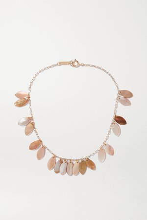 Gold Ali gold-tone shell necklace | Isabel Marant | NET-A-PORTER