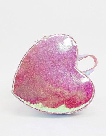 ASOS DESIGN novelty heart backpack   ASOS