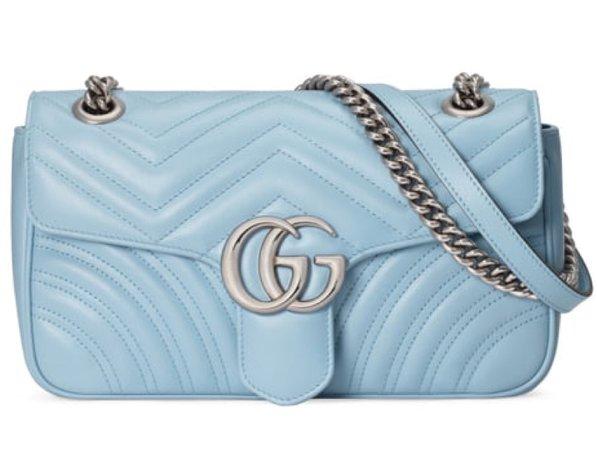 baby blue Gucci hang bag