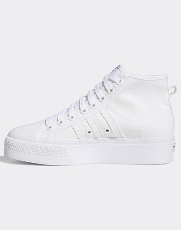adidas Originals Nizza platform sneakers in white | ASOS