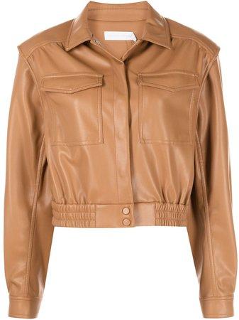 Jonathan Simkhai Marabella vegan leather jacket - FARFETCH