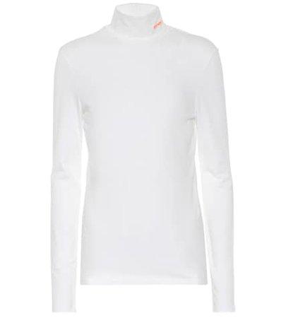 Stretch-cotton turtleneck top
