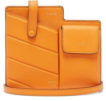 Mini Leather Cross Body Bag - Womens - Orange