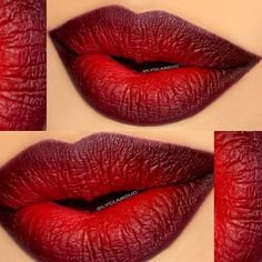 90's KID: Goth Ombré Lips Line the lips using Illamasqua Medium Pencil in Honour and fill in the corners. Smudge the line … | Ombre lips, Makeup, Dark ombre