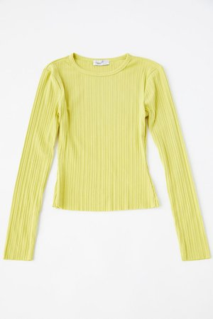 UO Timmy Ribbed Long Sleeve Top | Urban Outfitters