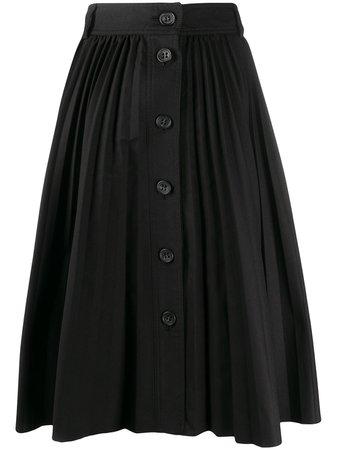 Redvalentino A-Line Pleated Midi Skirt Ss20   Farfetch.com