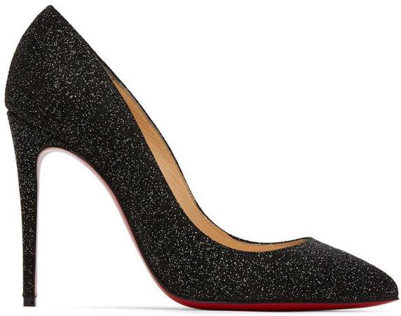 Black Glitter Pigalles Follies 100 Heels