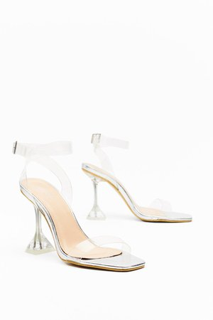 It's All So Clear Now Clear Stiletto Heels | Nasty Gal