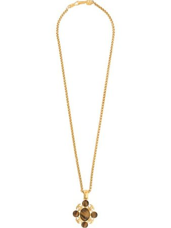 Shop gold Chanel Pre-Owned 1995 CC pendant necklace with Express Delivery - Farfetch
