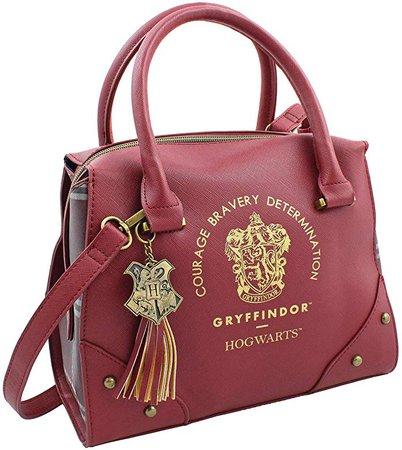 Amazon.com: Harry Potter Purse Designer Handbag Hogwarts Houses Womens Top Handle Shoulder Satchel Bag Gryffindor: Shoes
