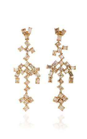 18K Gold Diamond Earrings by Sylva & Cie | Moda Operandi
