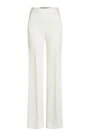 Roland Mouret High-Waist Wide-Leg Pants, White | ModeSens
