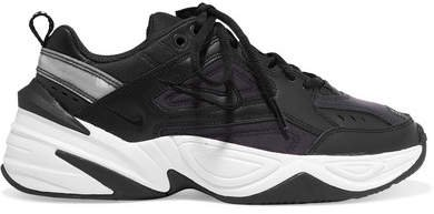 M2k Tekno Leather And Mesh Sneakers - Black