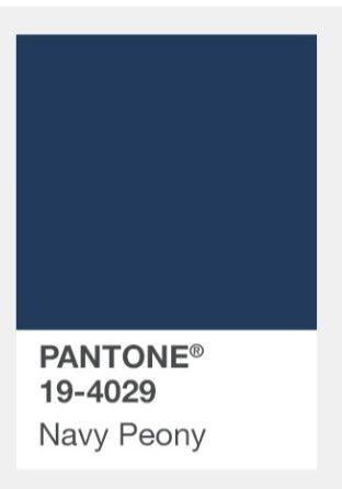 Pantone Navy Peony