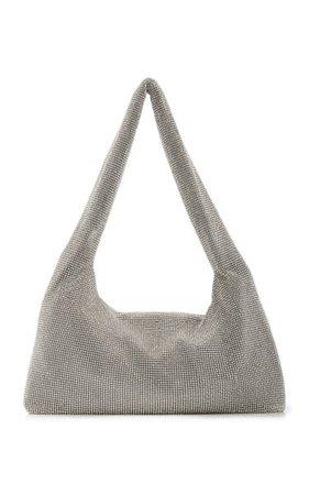 Crystal-Embellished Satin Top Handle Bag By Kara | Moda Operandi