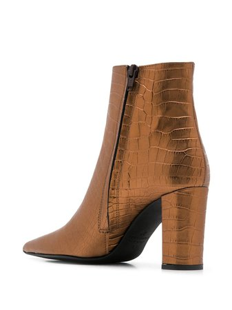 Marc Ellis Embossed Metallic Boots - Farfetch