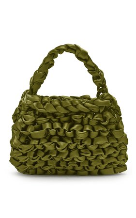 Miista Theodore Knotted Satin Top Handle Bag