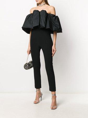 Cushnie off-the-shoulder Puff Silk Jumpsuit - Farfetch