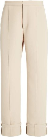 Deveaux Alexis Cuffed Straight-Leg Trousers