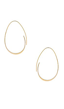 EIGHT by GJENMI JEWELRY Egg Hoops in 14K Plated Gold | REVOLVE