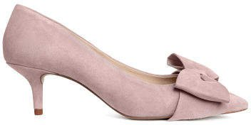 Court shoes with a bow - Pink