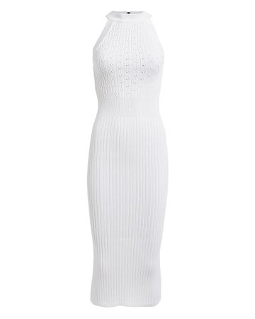 Sleeveless Rib Knit Dress