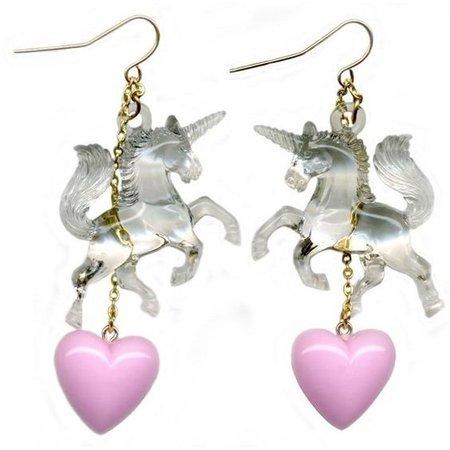 Toujours Toi Sweet Dreams unicorn earrings pink