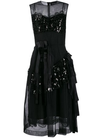Shop black Simone Rocha sequined tulle dress with Express Delivery - Farfetch