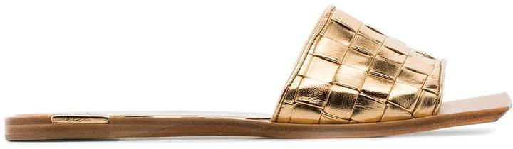 Intrecciato flat sandals