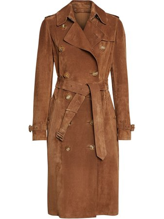 Burberry, Suede Trench Coat