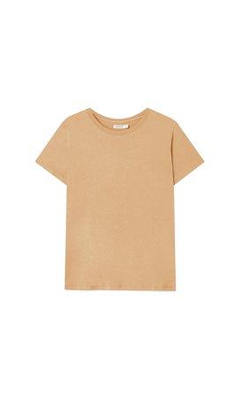 Basic short sleeve T-shirt - Women's Just in   Stradivarius United States