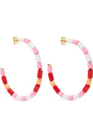 Roxanne Assoulin | U-Tube enamel hoop earrings | NET-A-PORTER.COM