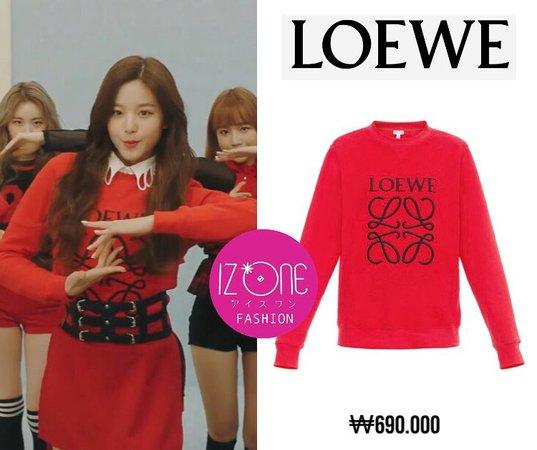 Loewe Anagram Sweatshirt red