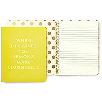 Amazon.com : Kate Spade Concealed Spiral Notebook, Limoncello, Bright Yellow (173244) : Office Products