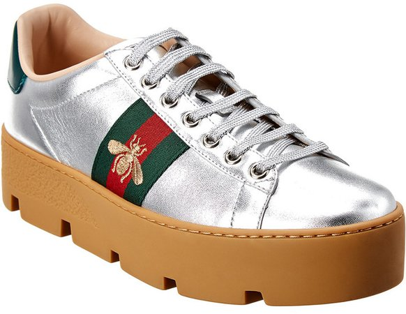 Bee Laminated Leather Sneaker