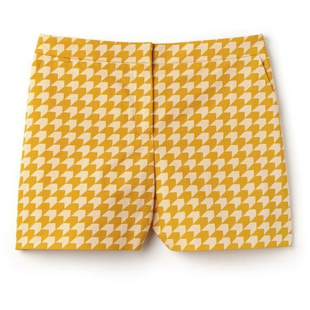 Orange Bermuda Shorts in Gingham Cotton