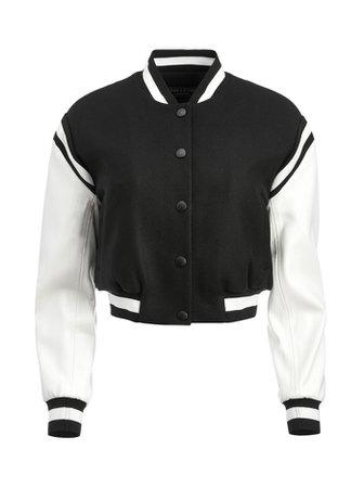 Keri Vegan Leather Varsity Jacket | Alice And Olivia