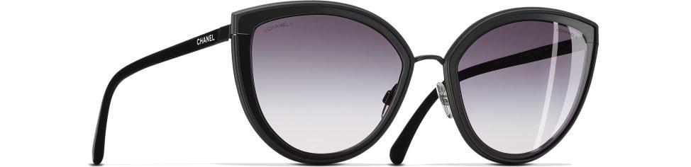 Óculos De Sol Em Formato Gatinho, metal, lentes banhadas com ouro 18 quilates, rosa dourado - CHANEL