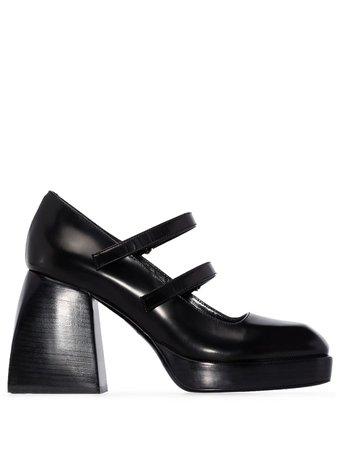 Nodaleto Block 85mm Heel Mary Jane Pumps - Farfetch