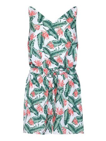 Mela London Tropical Lead Print Playsuit - House of Fraser
