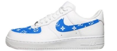 Blue Louis Vuitton Air Force 1
