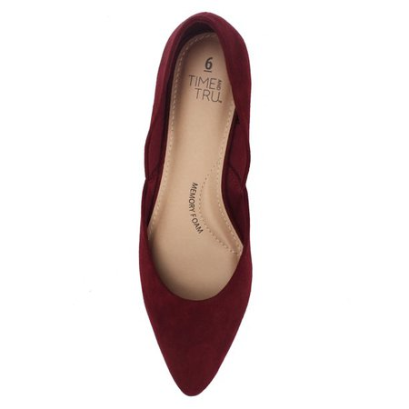 Women's Point Toe Ballet Flat Burgundy