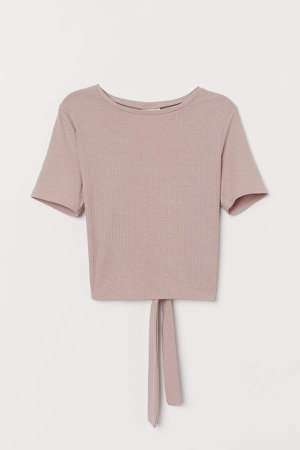 Ribbed Sports Top - Pink