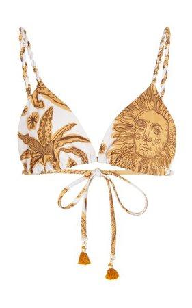Macondo Printed Bikini Top By Johanna Ortiz   Moda Operandi
