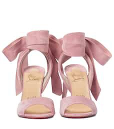 Rose Amelie 100 Suede Sandals - Christian Louboutin | Mytheresa
