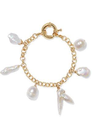 Eliou | Deia gold-plated pearl bracelet | NET-A-PORTER.COM