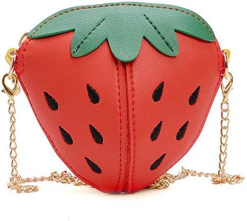 Amazon.com: Little Girl Strawberry Purse Kids Mini Crossbody Handbag Fashion PU Leather Clutch Shoulder Bag for Children's holiday gift: Clothing