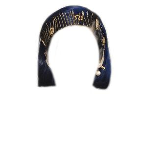 SHORT BLUE HAIR PNG HAIR PINS/CLIPS