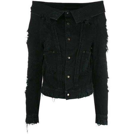 Unravel Project off-shoulder denim jacket