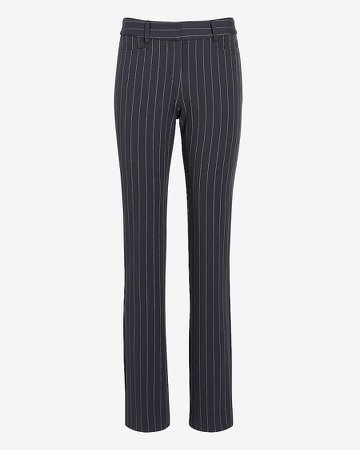 Mid Rise Pinstripe Columnist Slim Pant